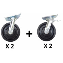 SET OF 4 NYLON WHEELS