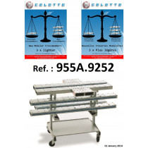 5 ALUMINUM CROSSMEMBERS SET with STORAGE TROLLEY