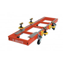 SEVENNE bench alone on wheels and with sill clamps