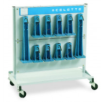 SET of  22 MZ TOWERS + STORAGE TROLLEY   (Evoultion of reference MZ450.915)