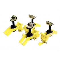 SET of 4 SILL CLAMPS with CURVE ARMS
